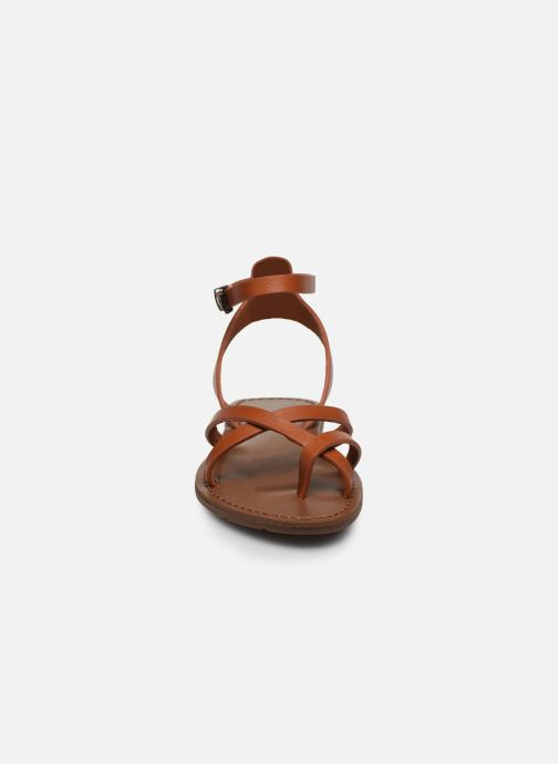 Sandales et nu-pieds Chattawak PERLA Marron vue portées chaussures