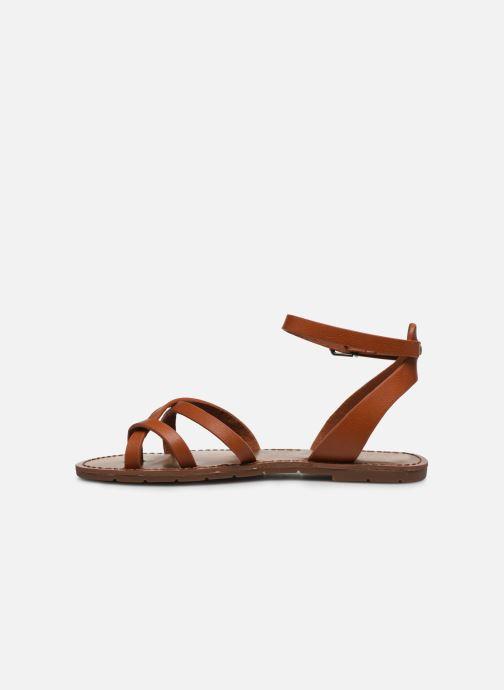 Sandales et nu-pieds Chattawak PERLA Marron vue face