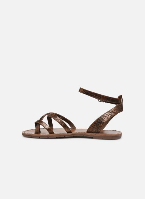 Sandales et nu-pieds Chattawak PERLA Or et bronze vue face