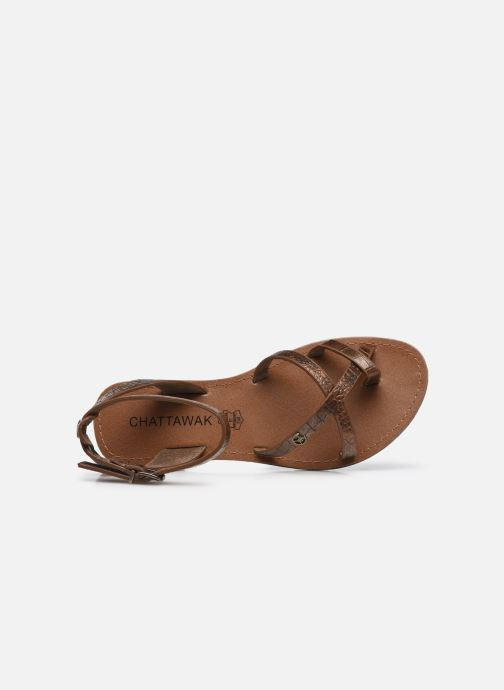 Sandales et nu-pieds Chattawak PERLA Or et bronze vue gauche