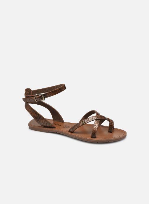 Sandales et nu-pieds Chattawak PERLA Or et bronze vue détail/paire