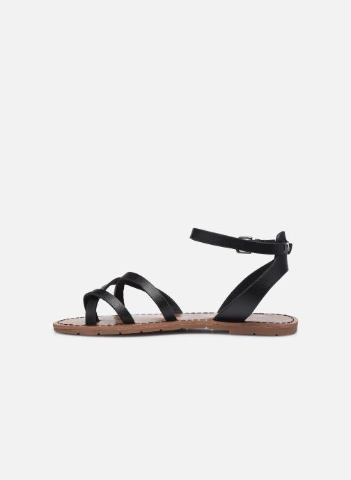 Sandales et nu-pieds Chattawak PERLA Noir vue face