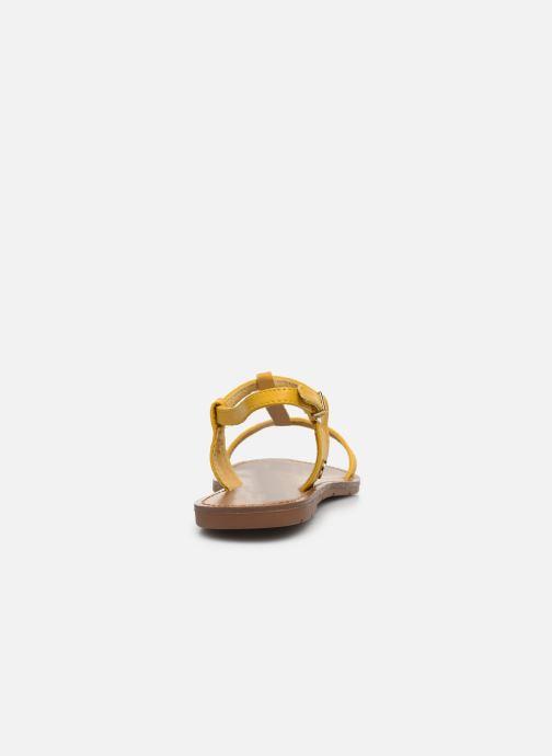 Sandales et nu-pieds Chattawak PETUNIA Jaune vue droite