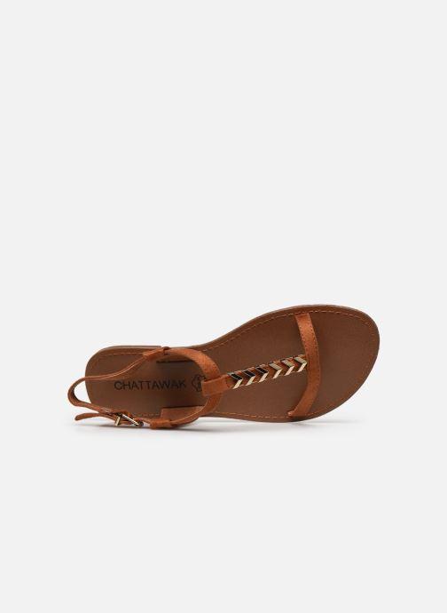 Sandales et nu-pieds Chattawak PETUNIA Marron vue gauche