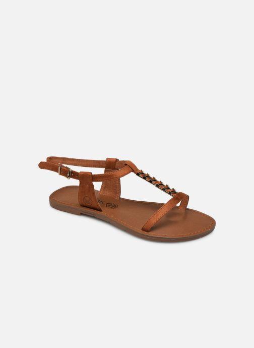 Sandales et nu-pieds Chattawak PETUNIA Marron vue détail/paire