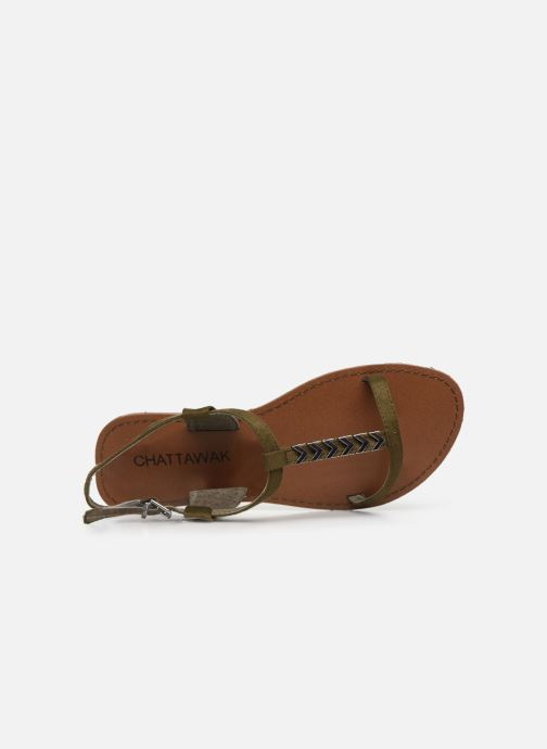 Sandales et nu-pieds Chattawak PETUNIA Vert vue gauche