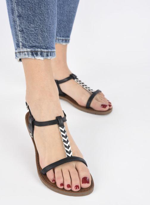 Sandales et nu-pieds Chattawak PETUNIA Noir vue bas / vue portée sac