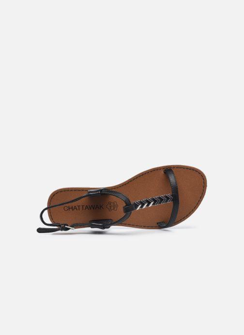 Sandales et nu-pieds Chattawak PETUNIA Noir vue gauche