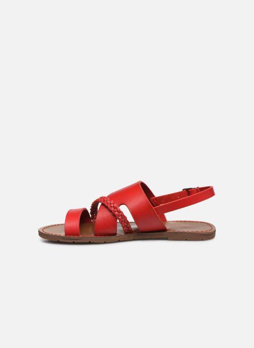 Sandales et nu-pieds Chattawak PHIBBY Rouge vue face