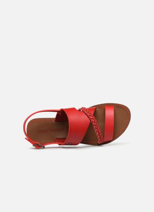 Sandales et nu-pieds Chattawak PHIBBY Rouge vue gauche