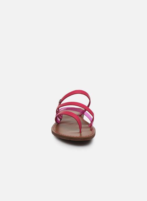 Mules et sabots Chattawak ROXANNE Rose vue portées chaussures