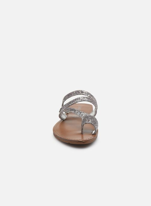 Mules et sabots Chattawak TEXANE Argent vue portées chaussures
