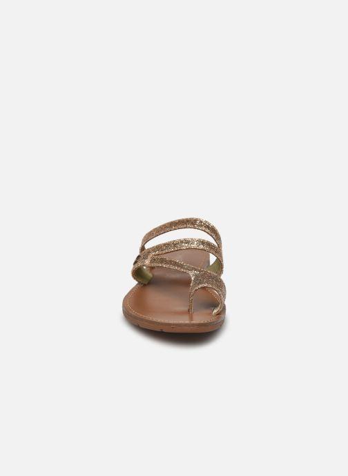 Mules et sabots Chattawak TEXANE Or et bronze vue portées chaussures