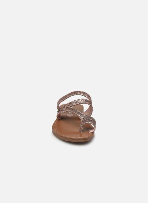Mules et sabots Chattawak TEXANE Rose vue portées chaussures