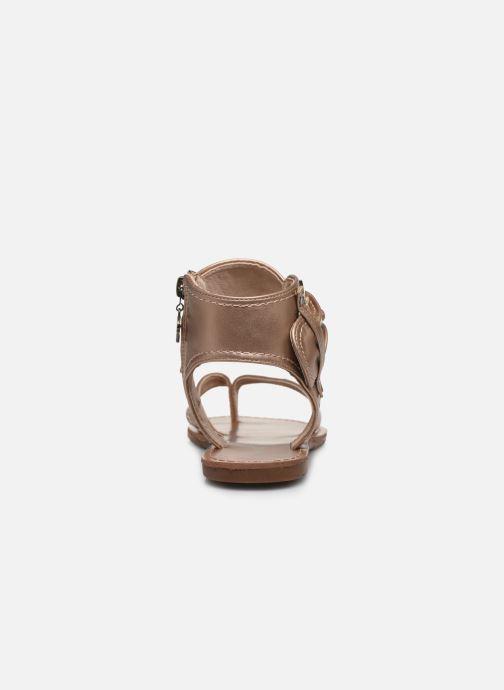 Sandales et nu-pieds Chattawak THALIE Or et bronze vue droite