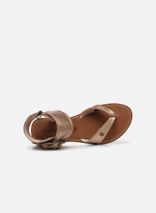 Sandales et nu-pieds Chattawak THALIE Or et bronze vue gauche