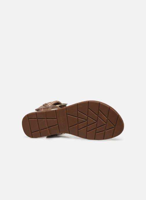 Sandales et nu-pieds Chattawak THALIE Or et bronze vue haut
