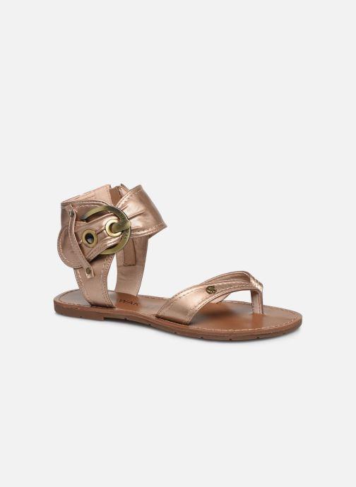 Sandales et nu-pieds Chattawak THALIE Or et bronze vue détail/paire