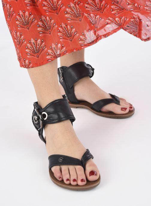 Sandales et nu-pieds Chattawak THALIE Noir vue bas / vue portée sac