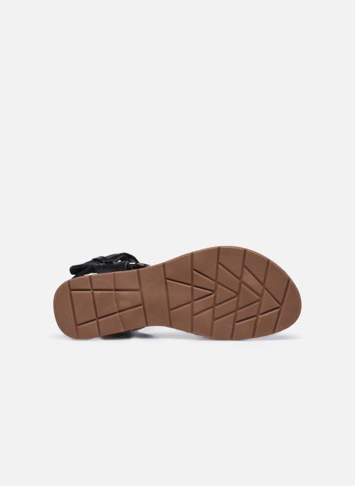 Sandales et nu-pieds Chattawak THALIE Noir vue haut