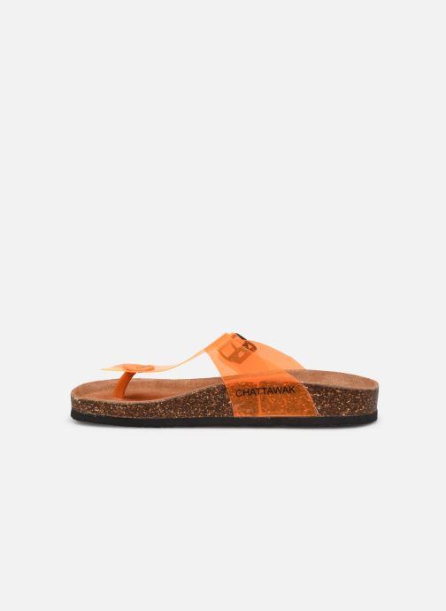 Clogs & Pantoletten Chattawak ZELDA orange ansicht von vorne