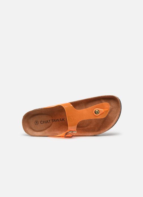 Clogs & Pantoletten Chattawak ZELDA orange ansicht von links