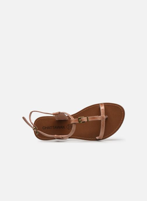 Sandals Chattawak ZHOE Beige view from the left