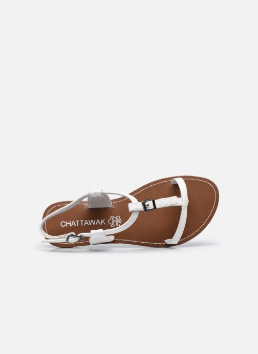Sandales et nu-pieds Chattawak ZHOE Blanc vue gauche