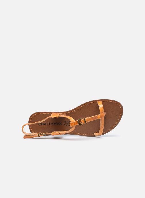 Sandali e scarpe aperte Chattawak ZHOE Giallo immagine sinistra