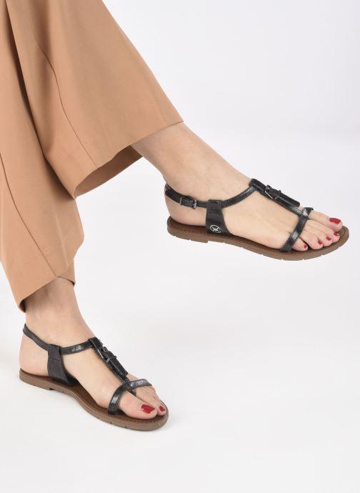 Sandales et nu-pieds Chattawak ZHOE Noir vue bas / vue portée sac