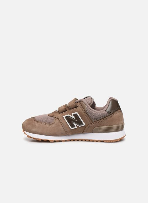 Baskets New Balance KV574 Marron vue face