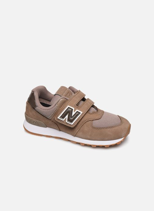 Baskets New Balance KV574 Marron vue détail/paire