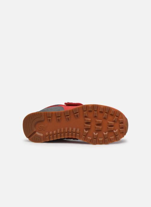 Baskets New Balance KV574 Rouge vue haut