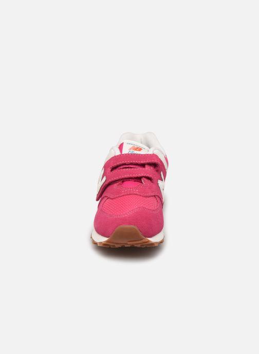 Sneaker New Balance KV574 rosa schuhe getragen