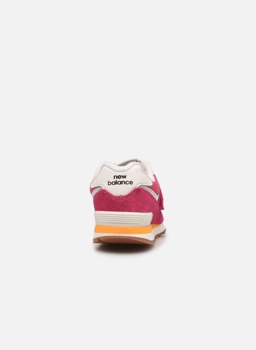 Sneaker New Balance KV574 rosa ansicht von rechts