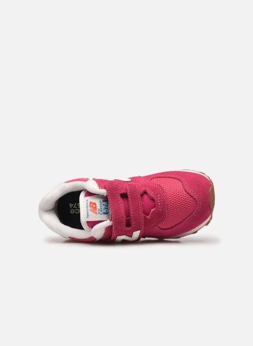 Sneaker New Balance KV574 rosa ansicht von links