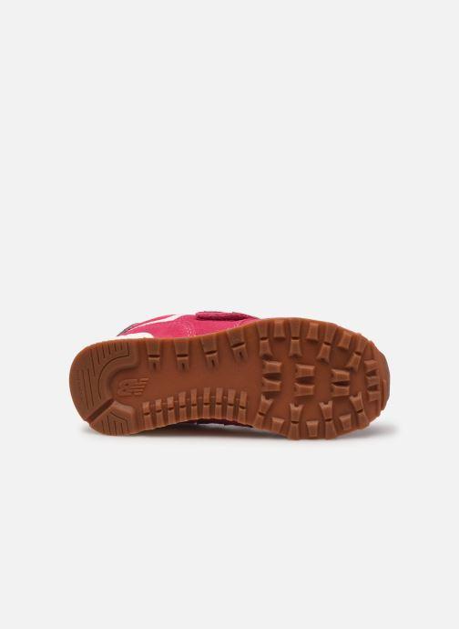 Sneaker New Balance KV574 rosa ansicht von oben