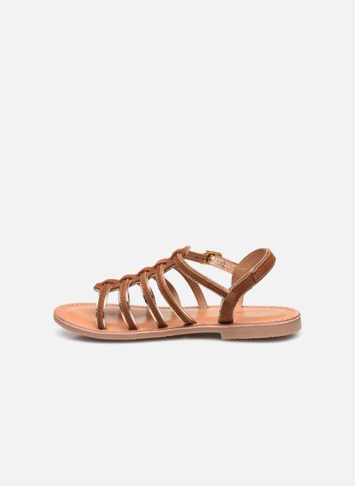 Sandales et nu-pieds Les Tropéziennes par M Belarbi Monbuck Marron vue face
