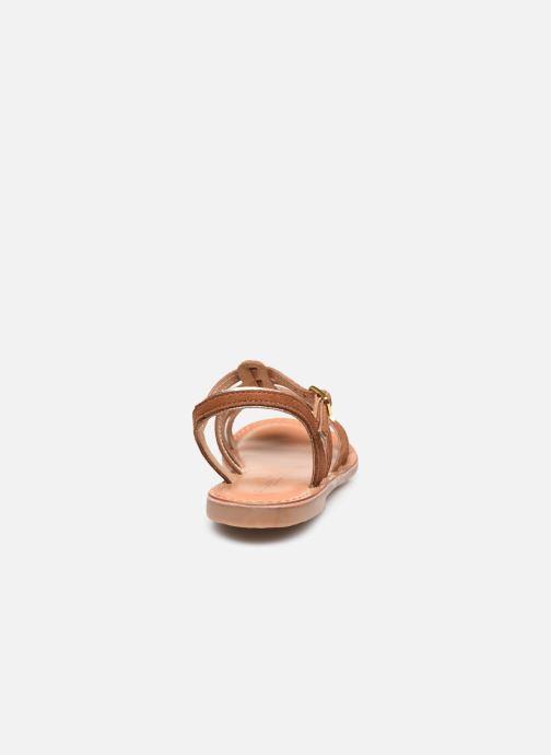 Sandales et nu-pieds Les Tropéziennes par M Belarbi Monbuck Marron vue droite