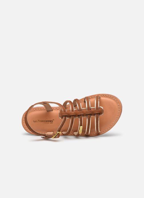 Sandales et nu-pieds Les Tropéziennes par M Belarbi Monbuck Marron vue gauche