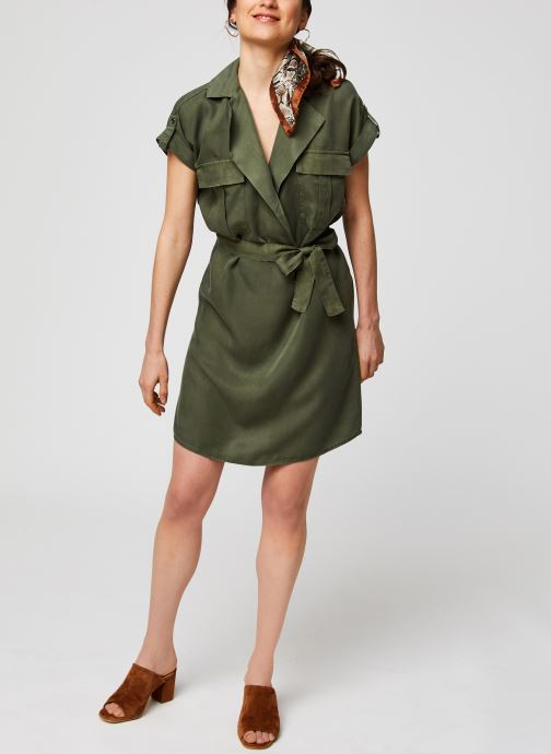 Vêtements Noisy May Short Dresses VERA Vert vue bas / vue portée sac