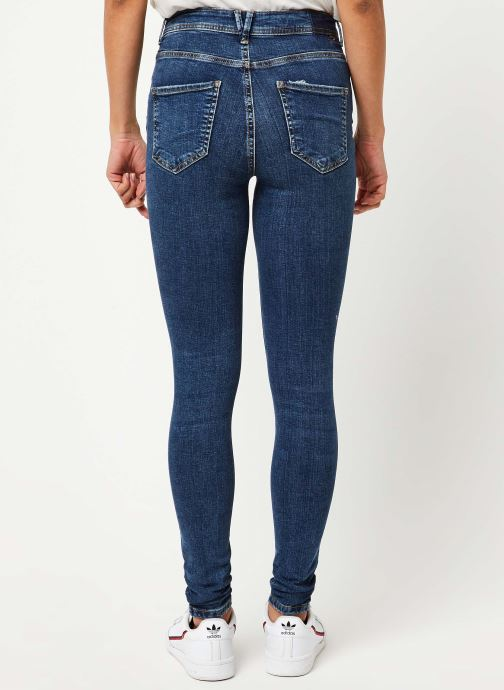 Vêtements Noisy May Jeans Stretch VICKY Bleu vue portées chaussures