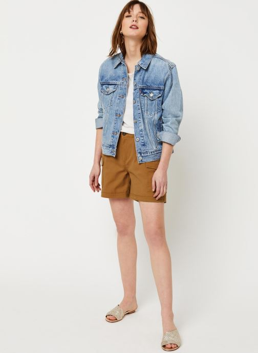 Vêtements Noisy May Shorts LOUISE Marron vue bas / vue portée sac