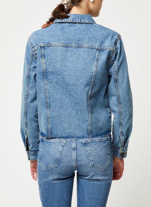 Vêtements Noisy May Denim Jackets SURY Bleu vue portées chaussures