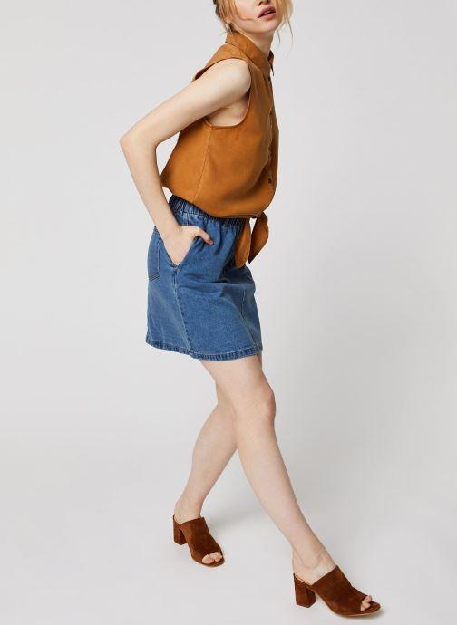 Vêtements Noisy May Denim Skirts JUDO Bleu vue bas / vue portée sac