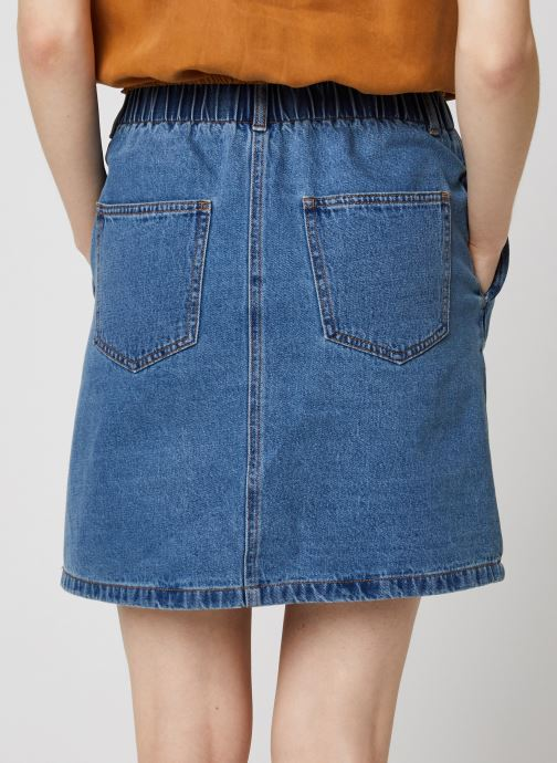 Vêtements Noisy May Denim Skirts JUDO Bleu vue portées chaussures
