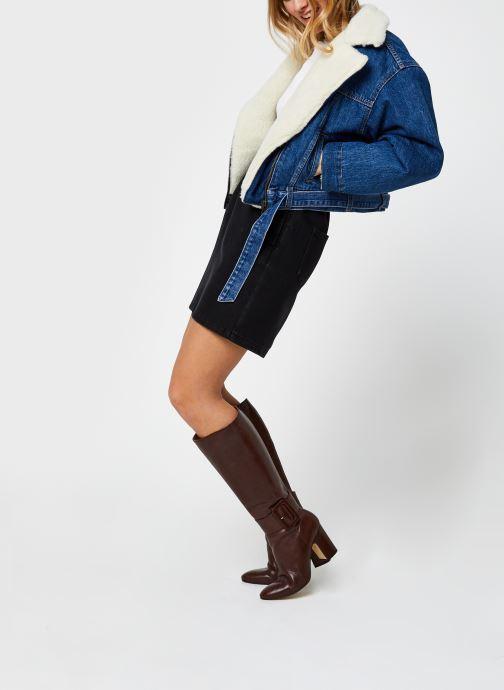 Vêtements Noisy May Denim Skirts JUDO Noir vue bas / vue portée sac