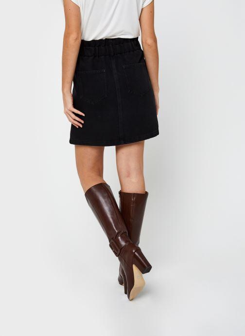 Vêtements Noisy May Denim Skirts JUDO Noir vue portées chaussures