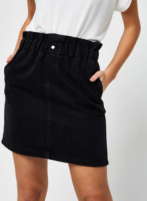 Vêtements Noisy May Denim Skirts JUDO Noir vue face