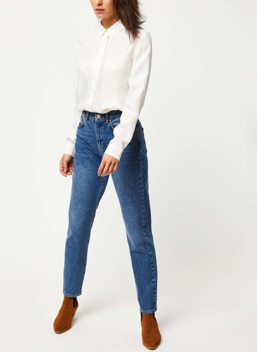 Vêtements Noisy May Jeans Solid ISABEL Bleu vue bas / vue portée sac